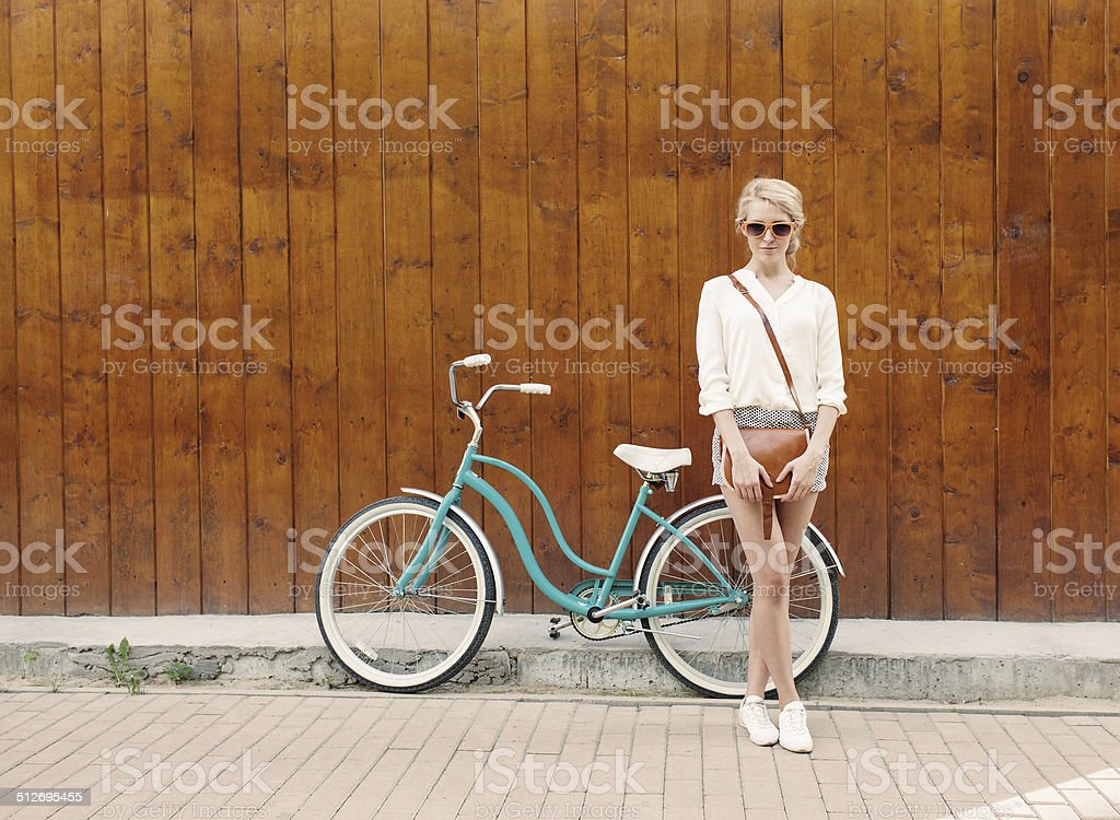 Young sexy blonde gir stock photo