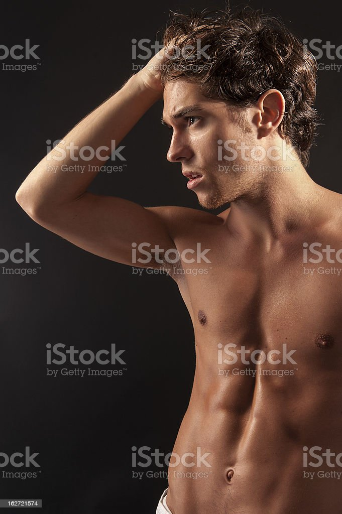 young sexy male adult. royalty-free stock photo