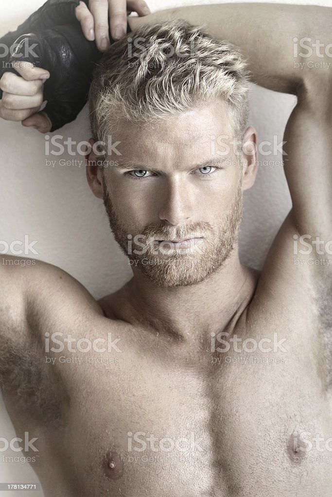 Young sexy male royalty-free stock photo