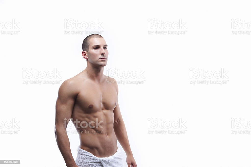 Young sexy male's body royalty-free stock photo