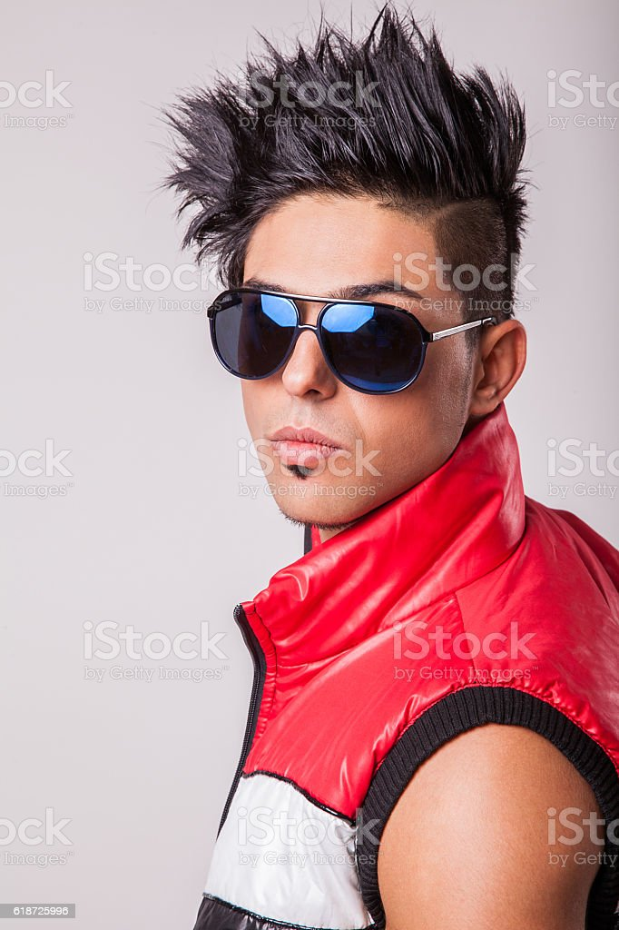 Young sexy middle eastern fashion model stock photo