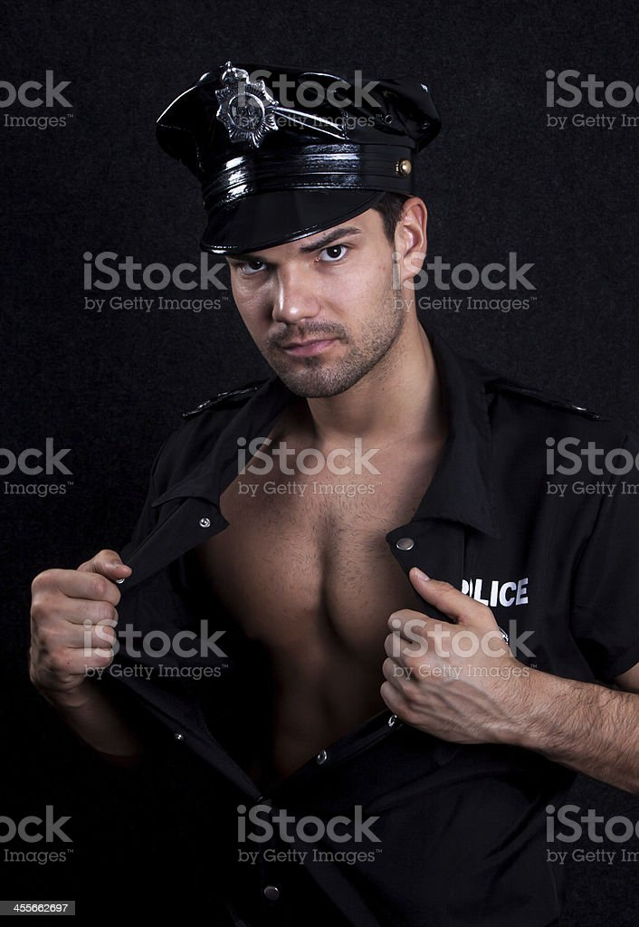 Young sexy policeman royalty-free stock photo