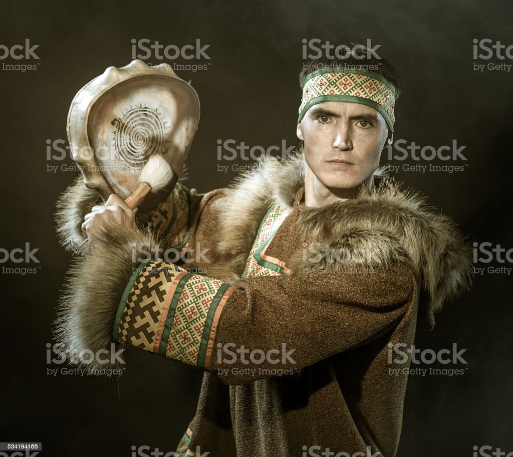 Young Shaman stock photo
