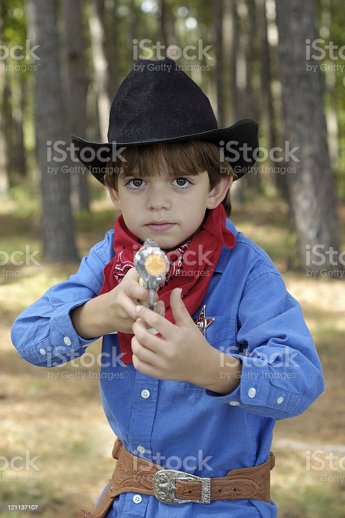 Young Sheriff royalty-free stock photo