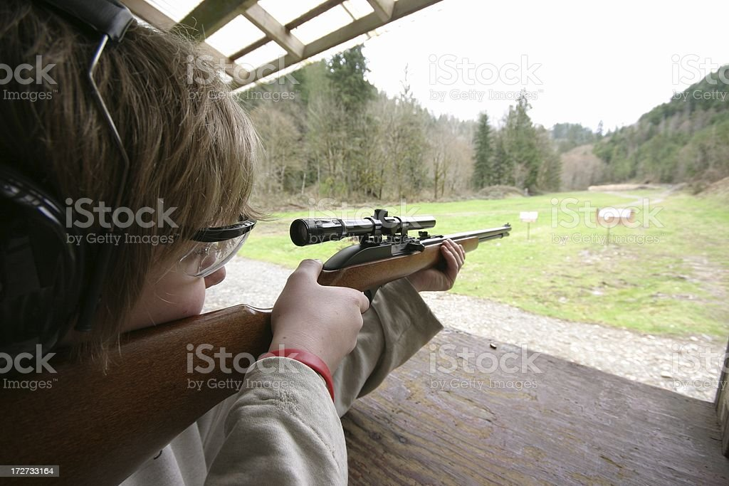 Young Shooter royalty-free stock photo