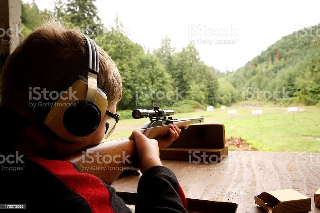 Young Shooter stock photo