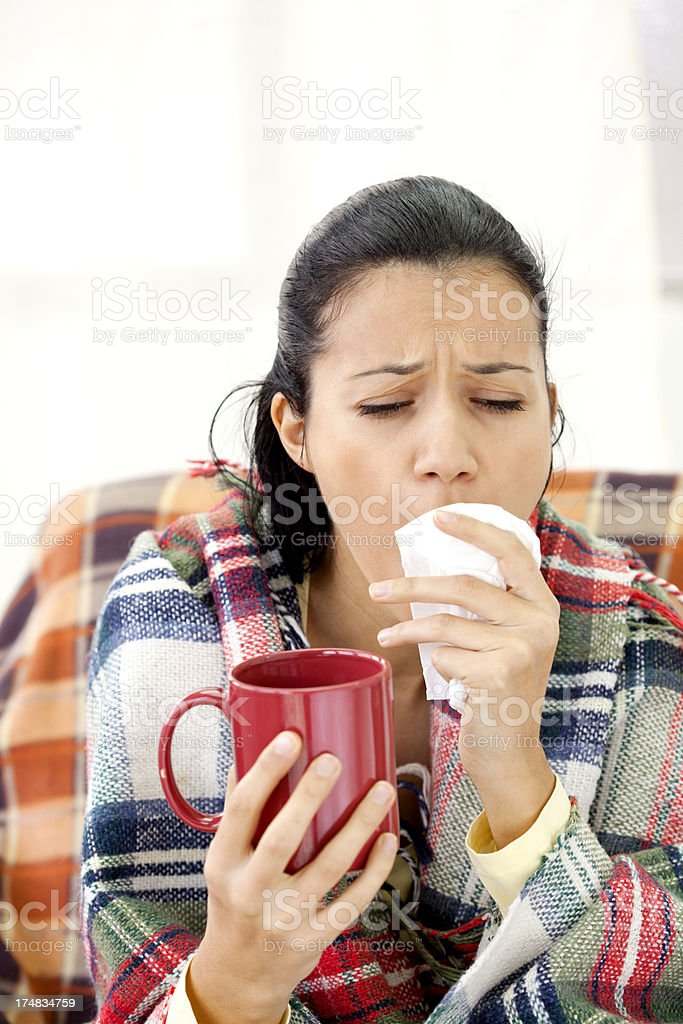 young sick woman royalty-free stock photo