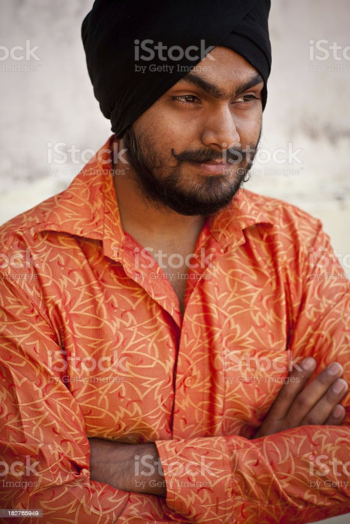 Young Sikh royalty-free stock photo