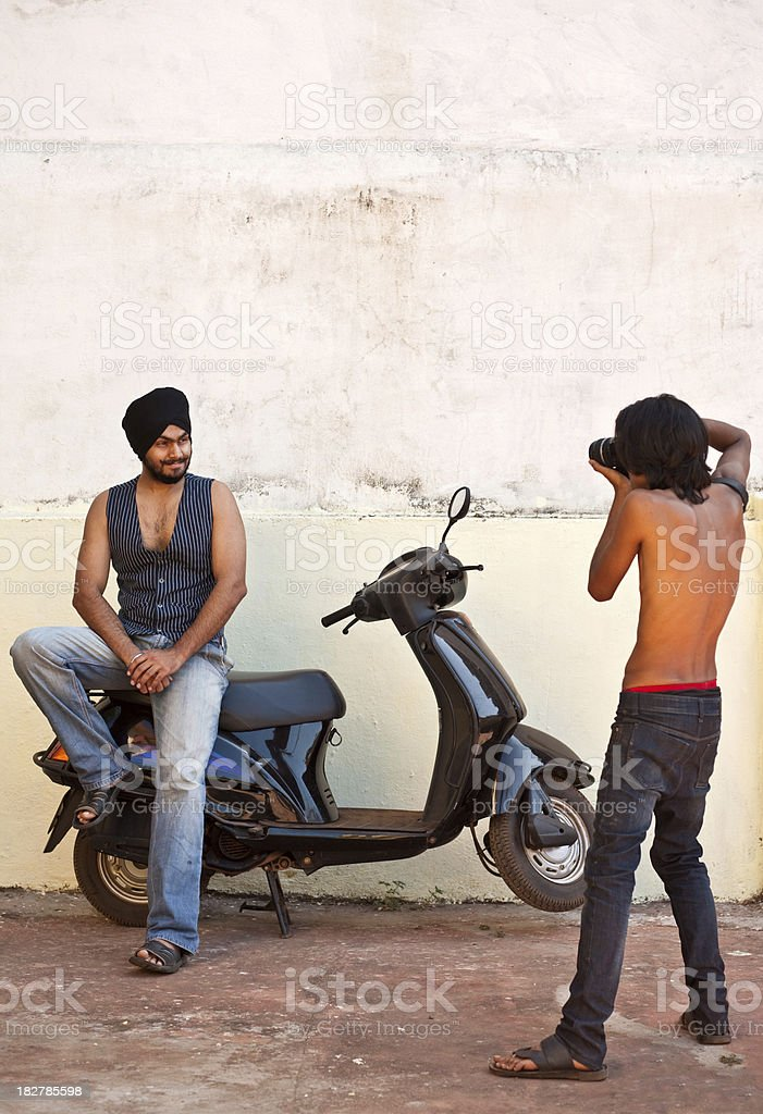 Young Sikh posing stock photo