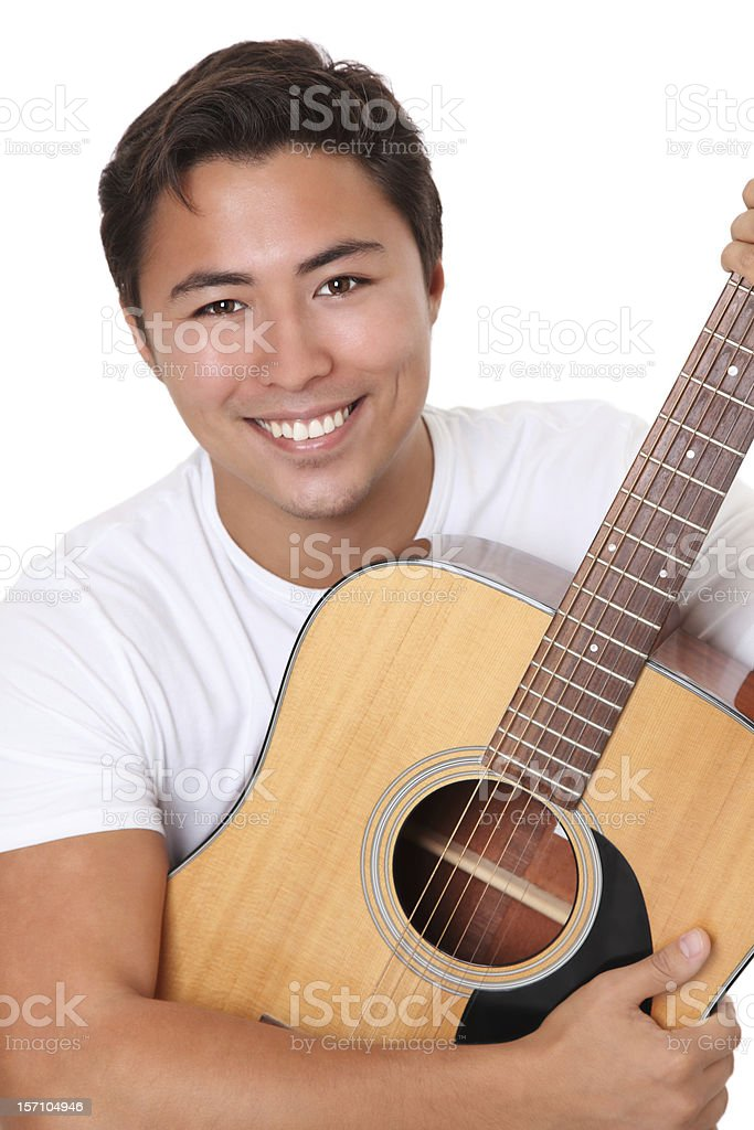 Young singer-songwriter stock photo