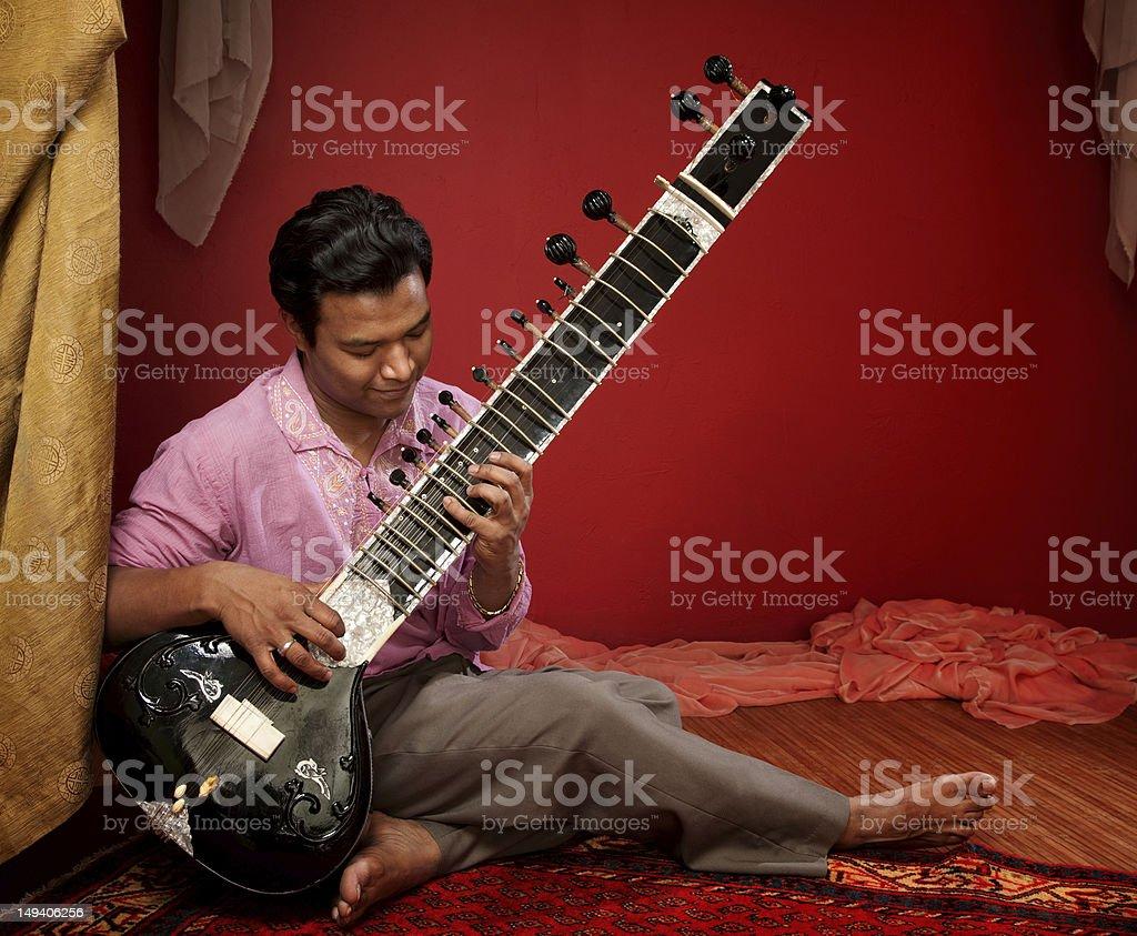 Young Sitar Musician stock photo