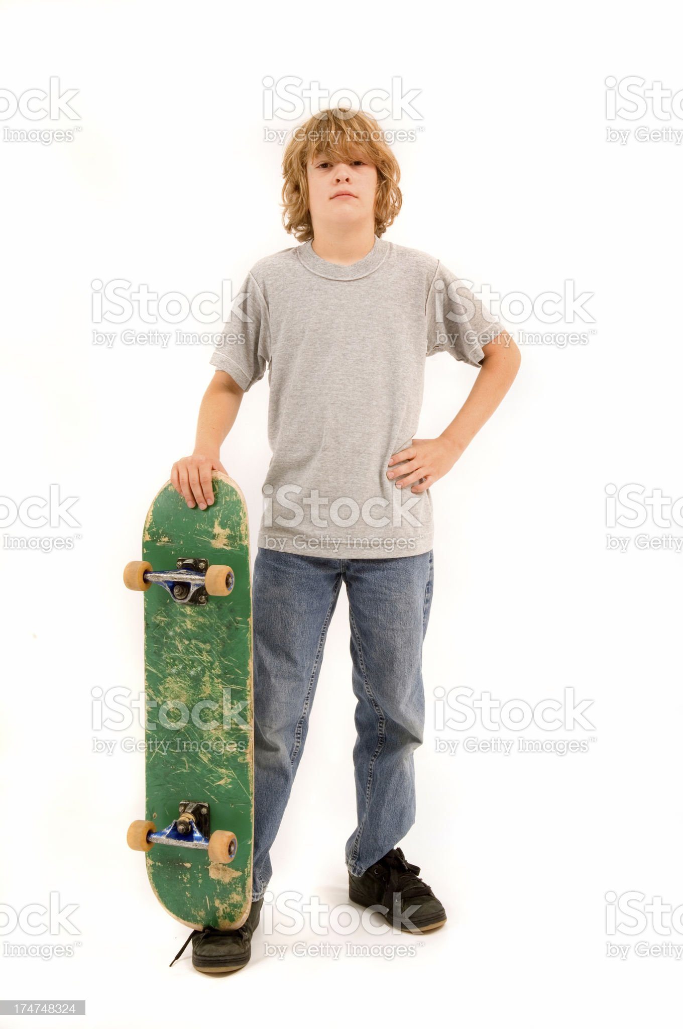 young skateboarder royalty-free stock photo