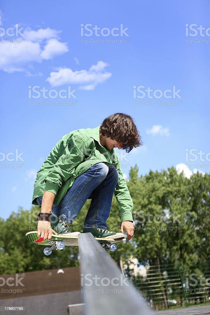young skateboarder skating royalty-free stock photo