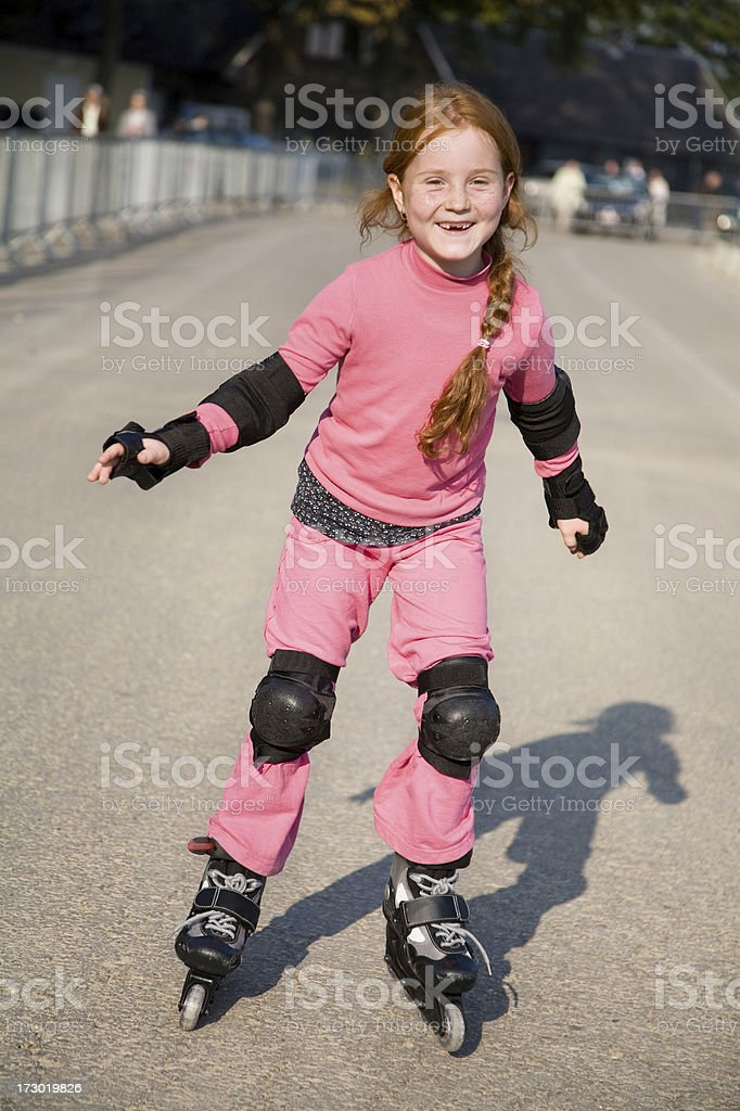 Young skater girl in action royalty-free stock photo