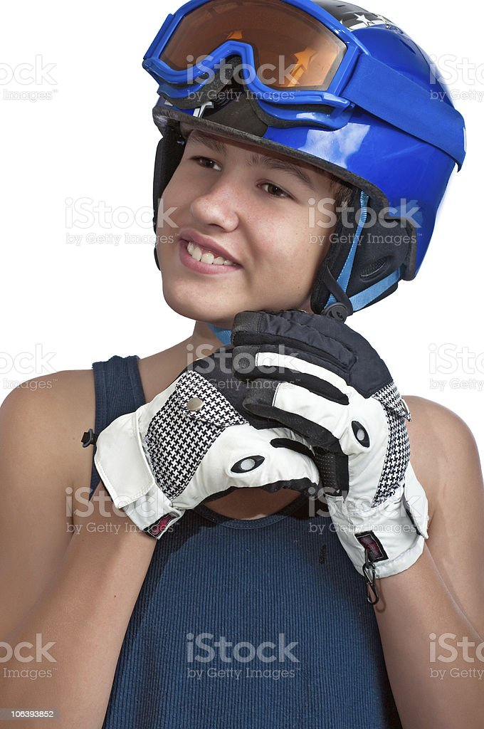 Young skier on a sunny day royalty-free stock photo