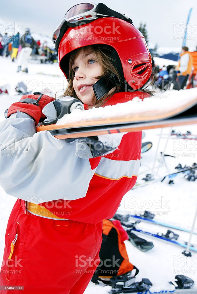 Young skier royalty-free stock photo