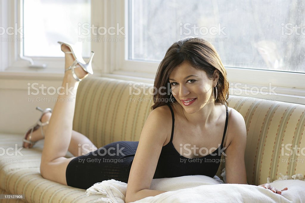 Young Skinny Model royalty-free stock photo