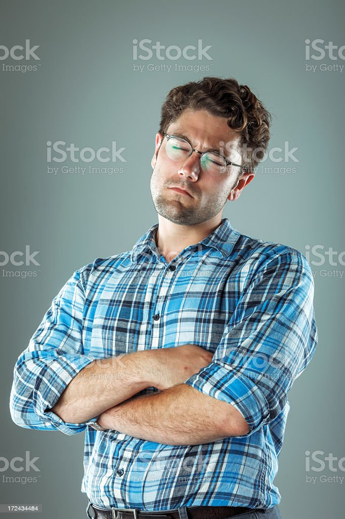 Young smart looking male daydreaming royalty-free stock photo