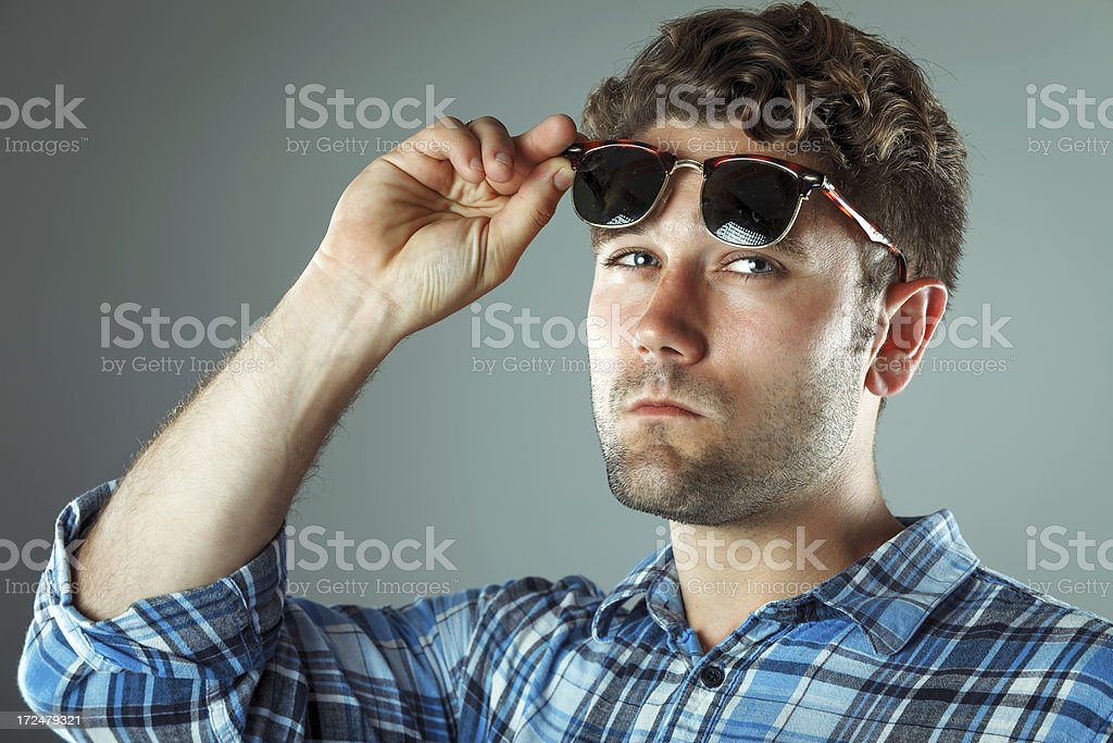 Young smart looking male royalty-free stock photo