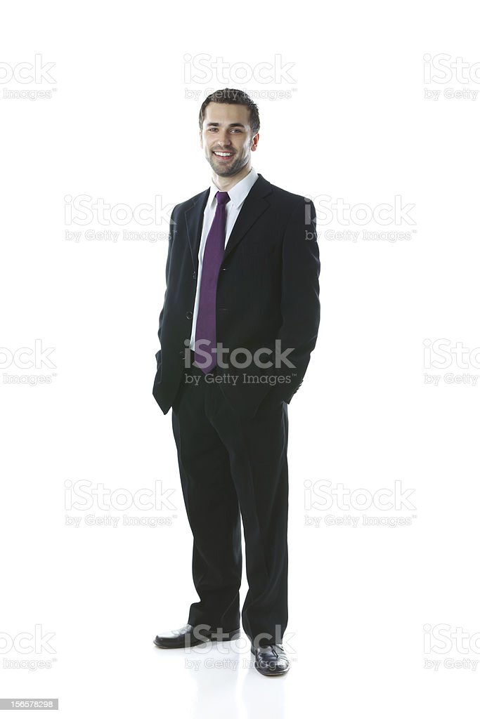 Young smiling businessman royalty-free stock photo