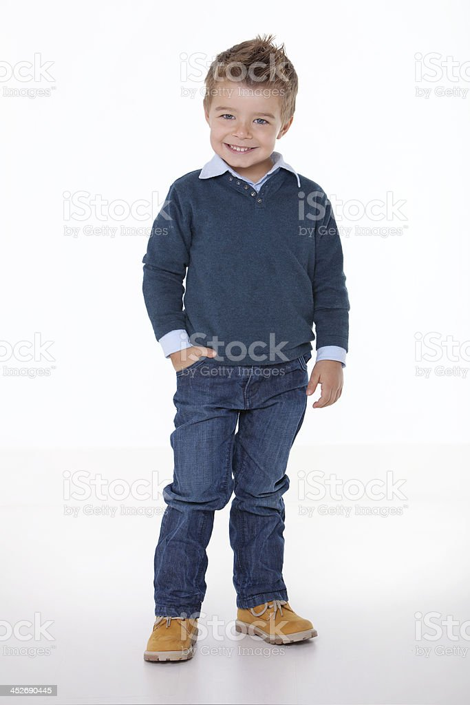 young smiling child wishes welcome royalty-free stock photo