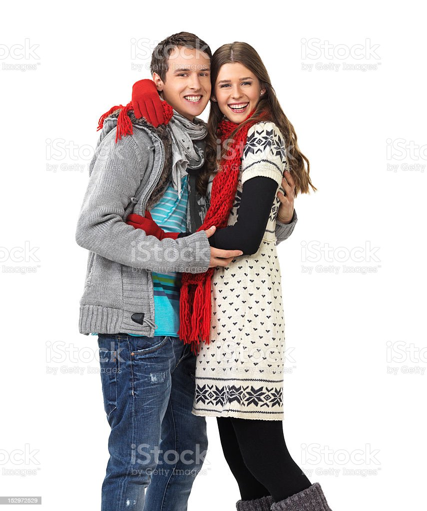 Young smiling couple royalty-free stock photo