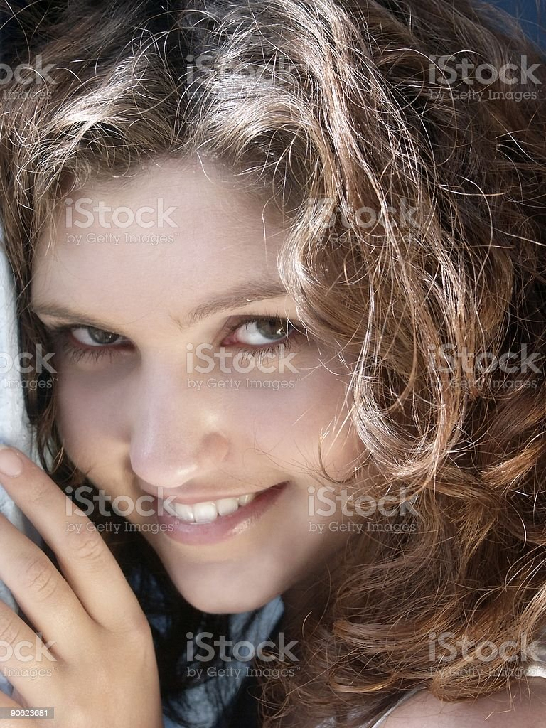 young smiling girl closeup royalty-free stock photo