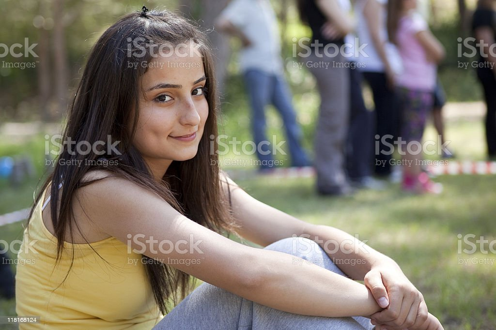 Young Smiling Girl With Dimple royalty-free stock photo