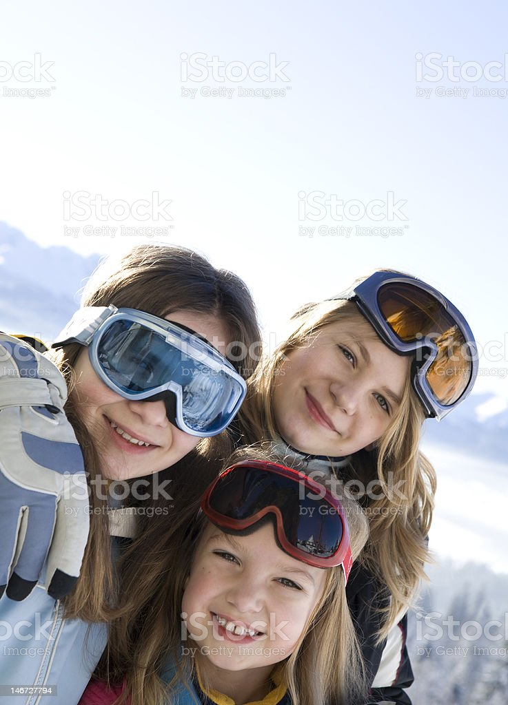 Young smiling girls royalty-free stock photo