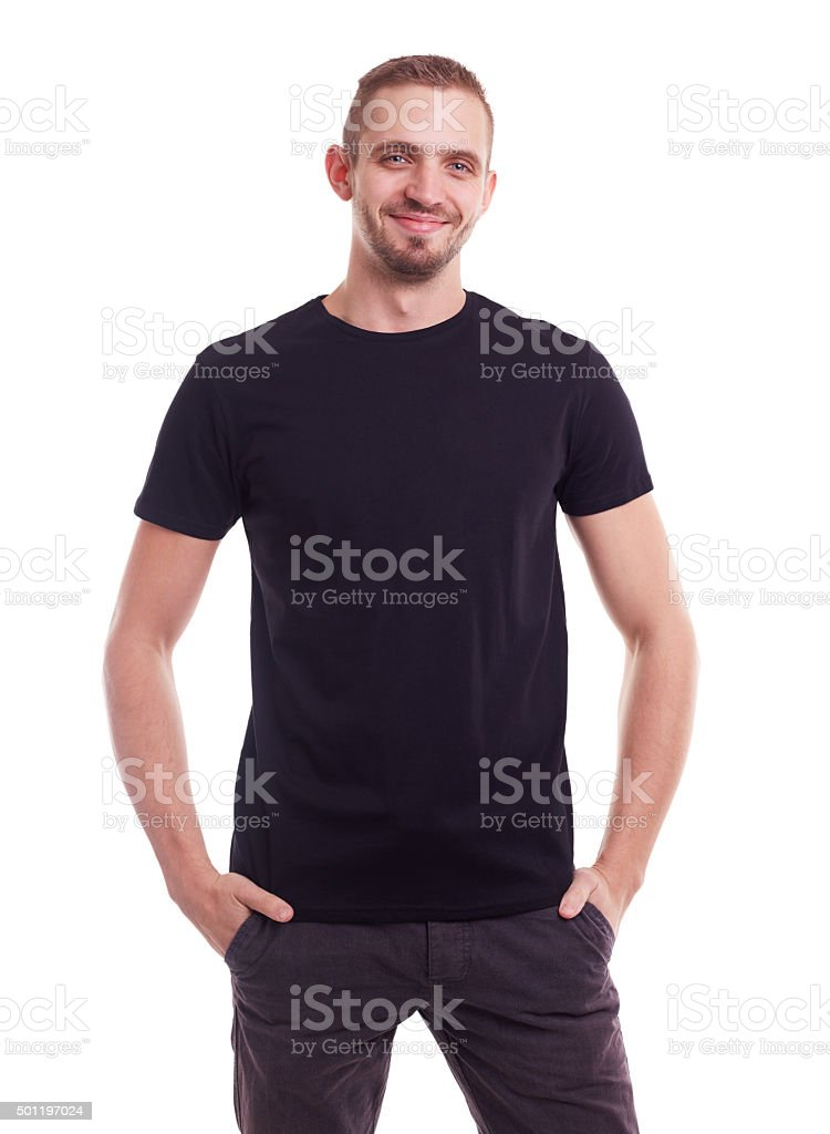 Young smiling man stock photo