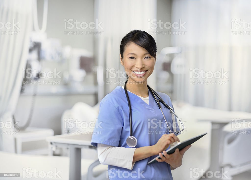 Young smiling nurse working royalty-free stock photo