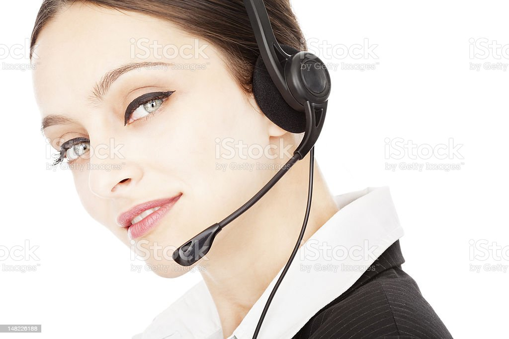 Young smiling operator royalty-free stock photo