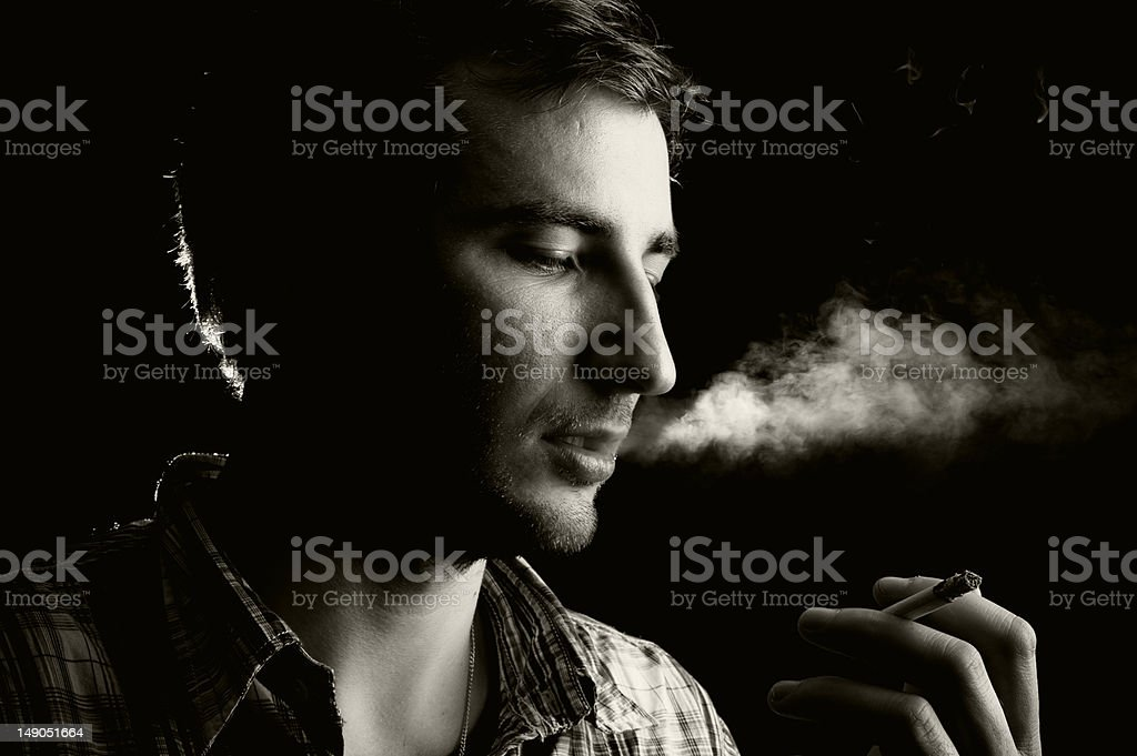 Young smoker royalty-free stock photo