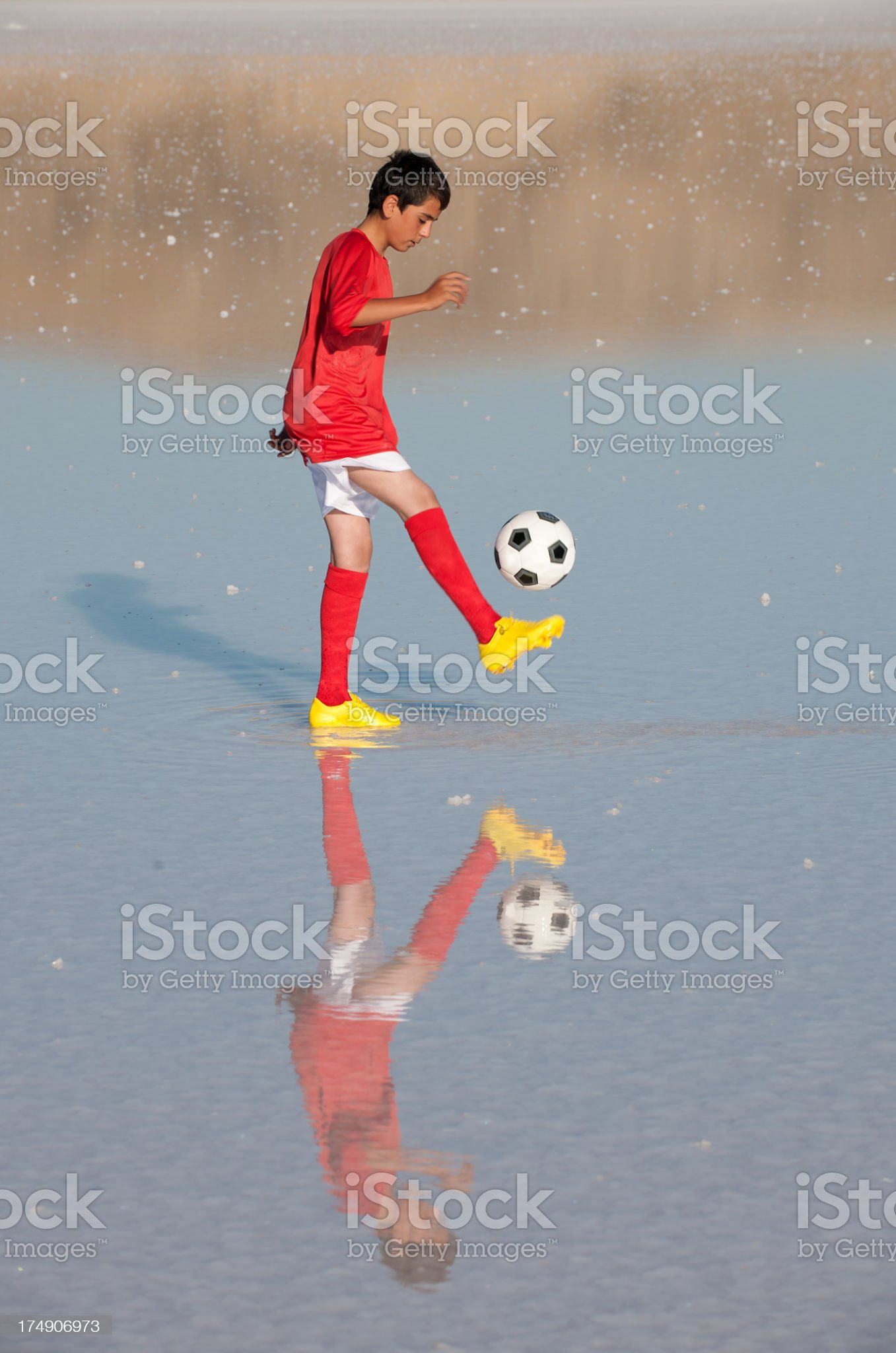 young soccer royalty-free stock photo