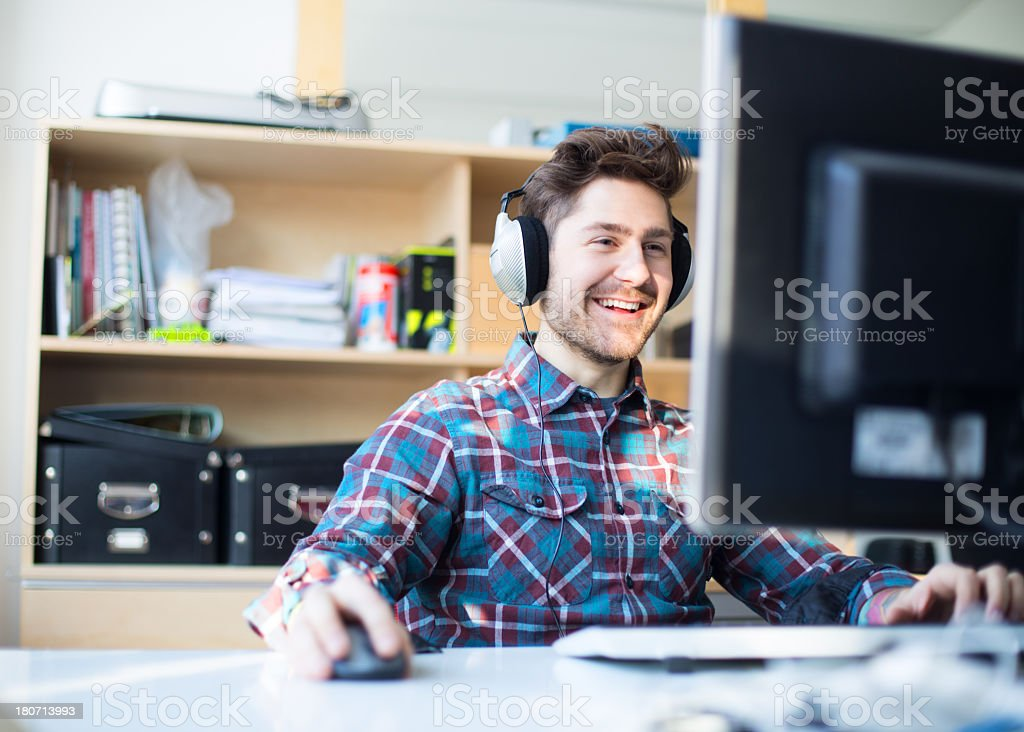 Young software engineer at a start up company royalty-free stock photo