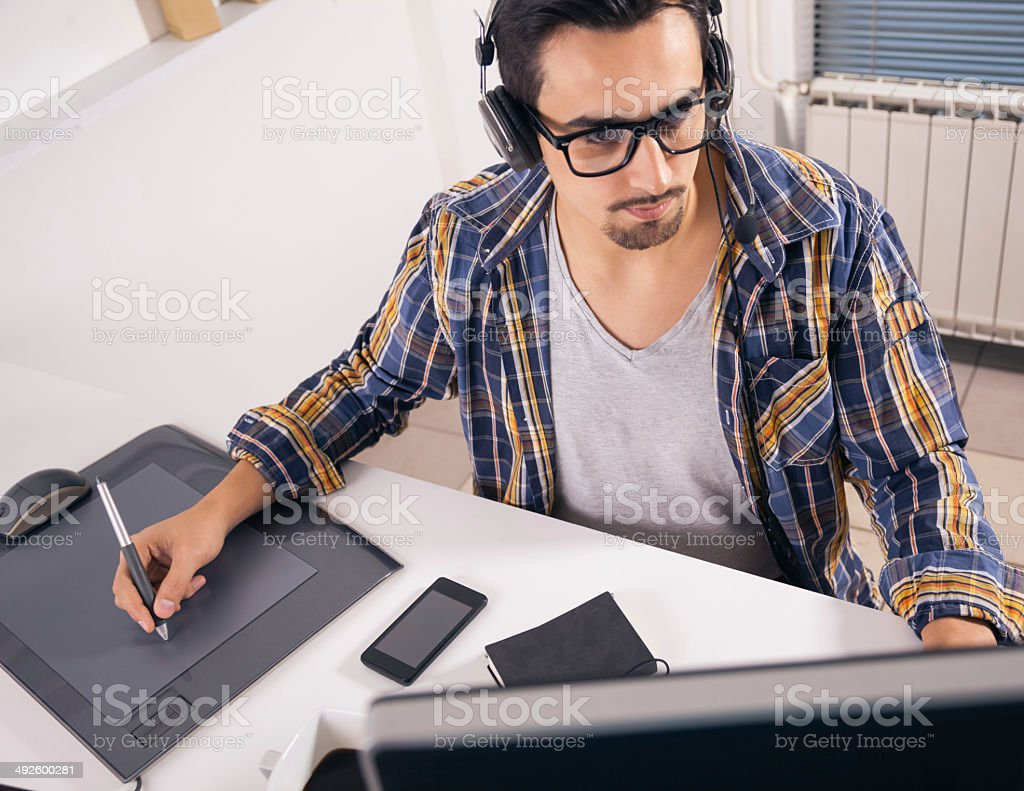 Young software engineer stock photo