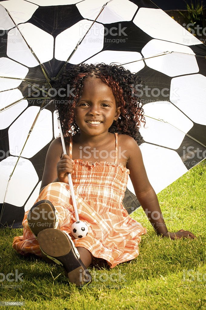 Young South African girl smiling stock photo