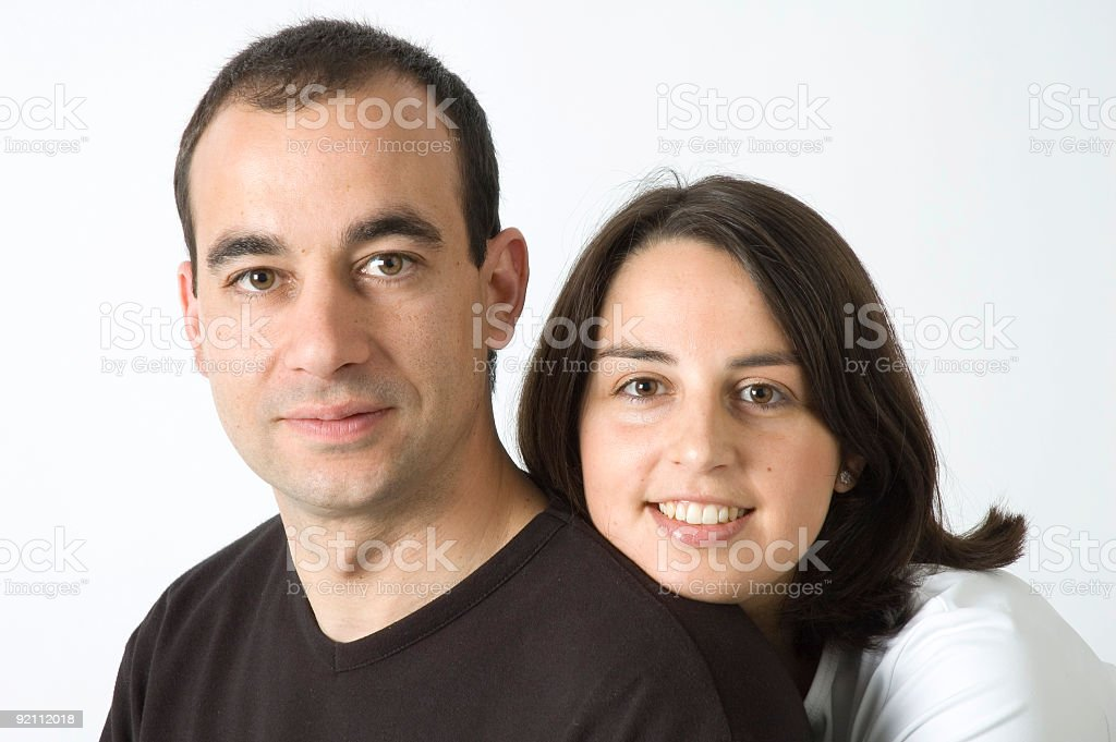 young spanigh couple stock photo