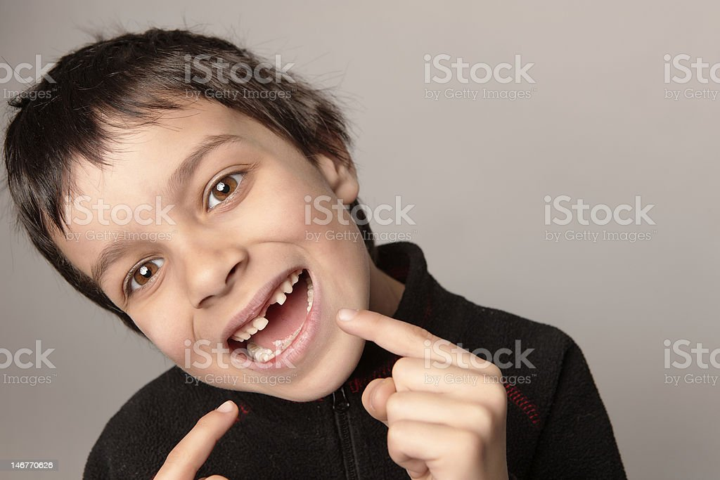 young special smile stock photo