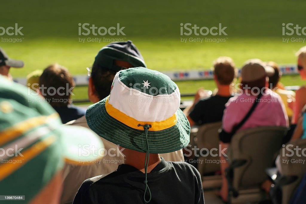 young spectator stock photo