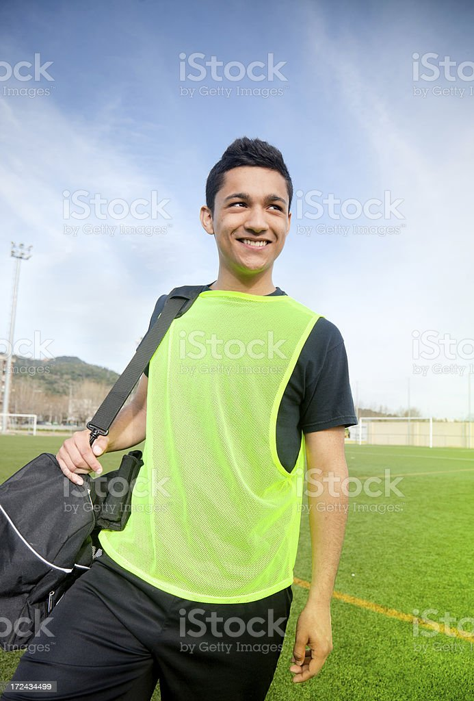 Young sports player royalty-free stock photo