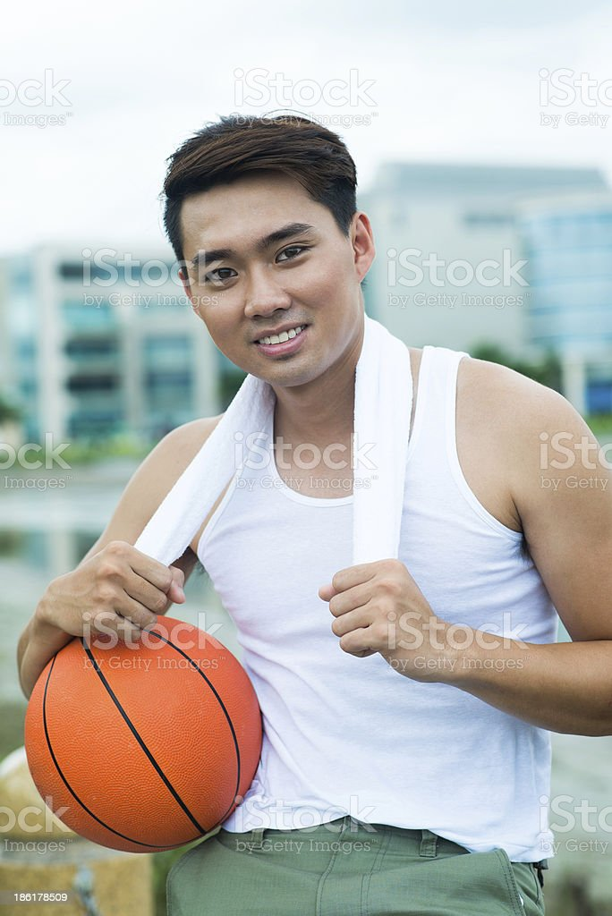 Young sportsman royalty-free stock photo