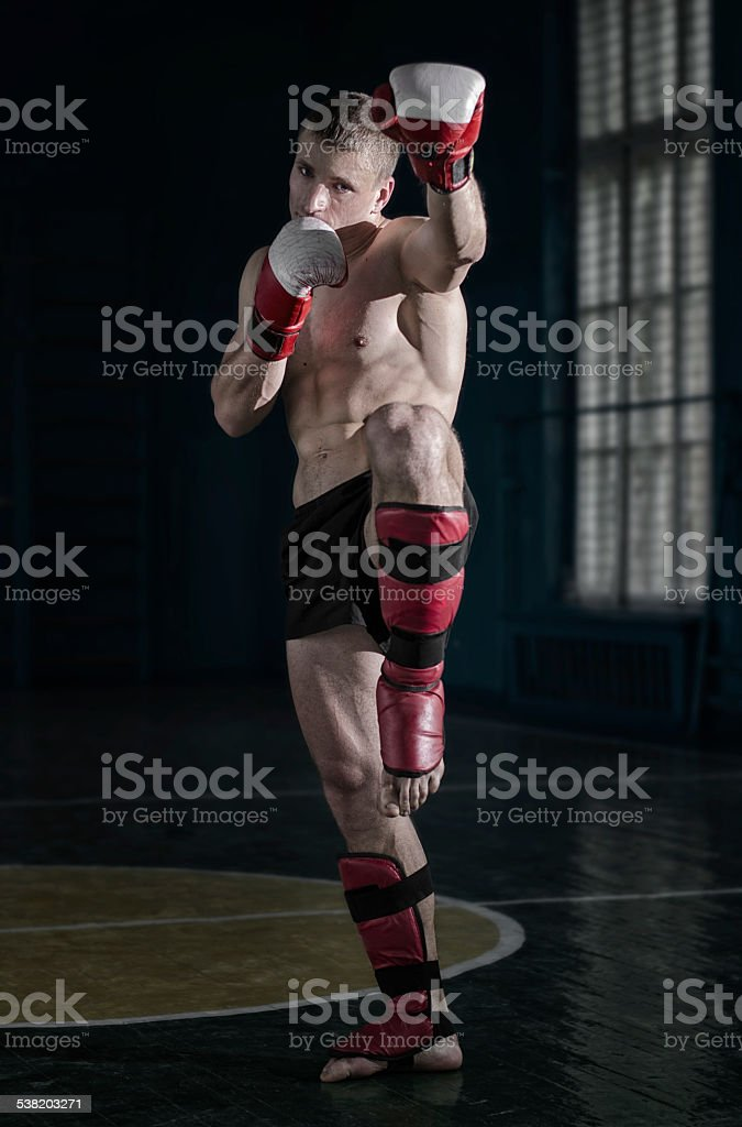 Young sporty man stock photo