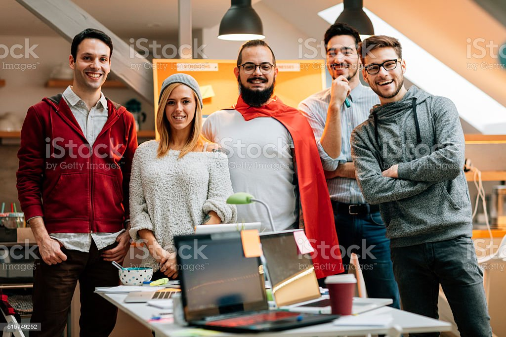 Young StartUp Team Portrait. stock photo