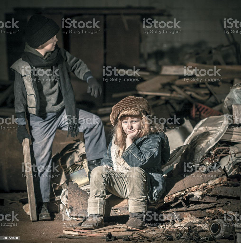 Young Street Children stock photo