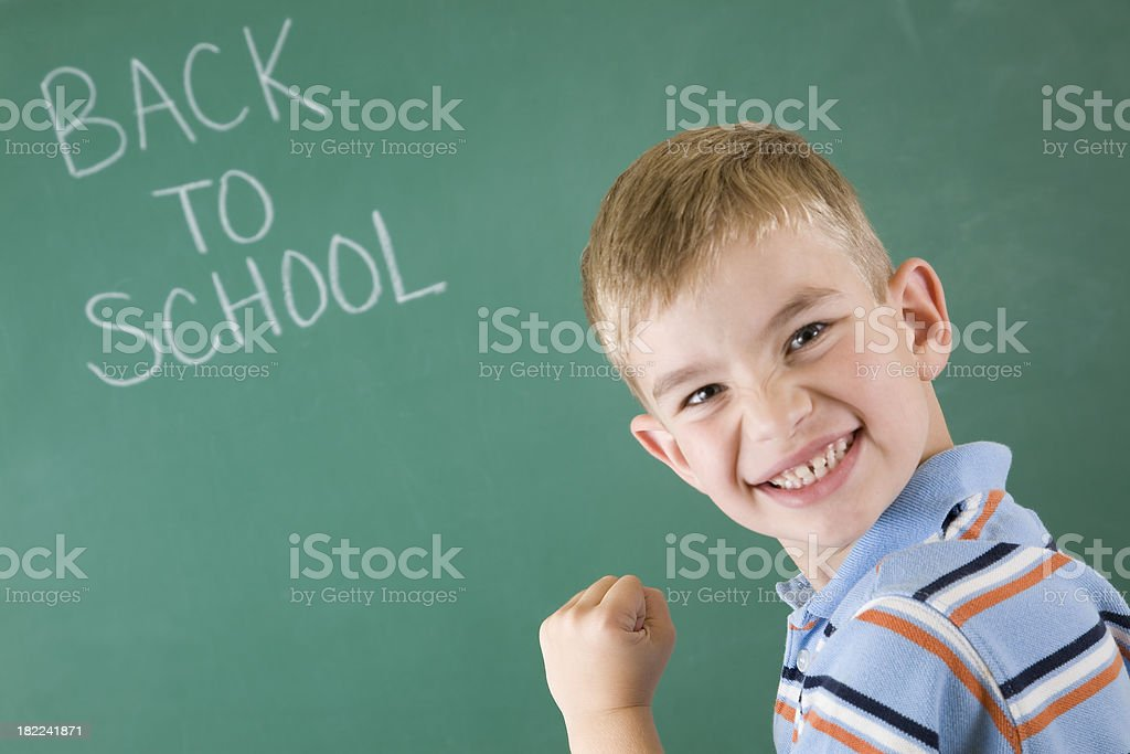 Young Student Excited about being Back to School royalty-free stock photo