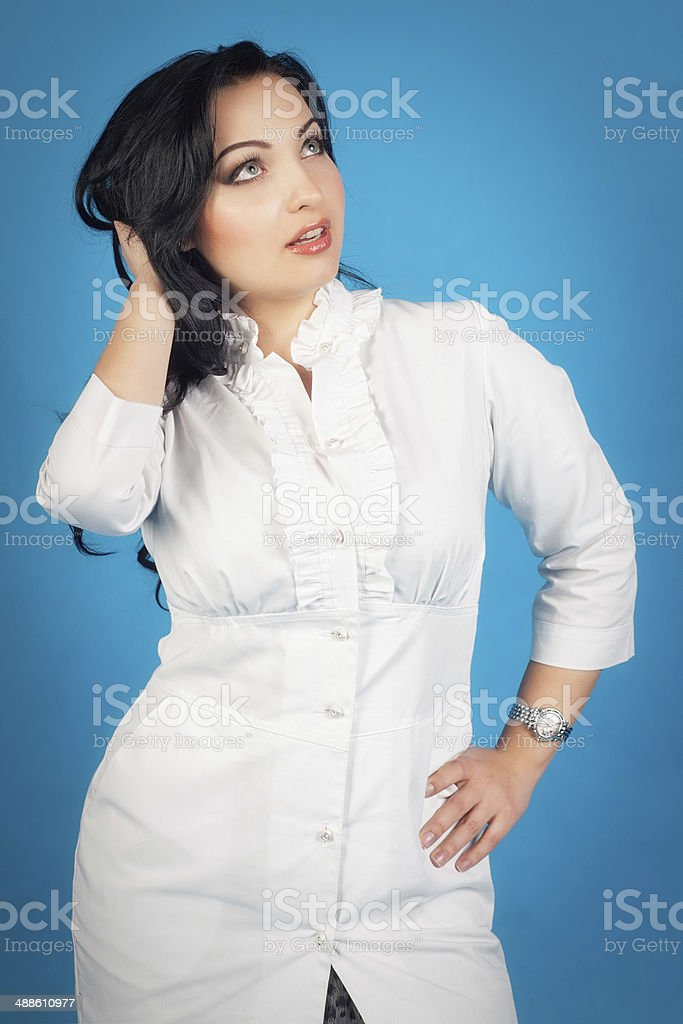 Young student of medicine royalty-free stock photo