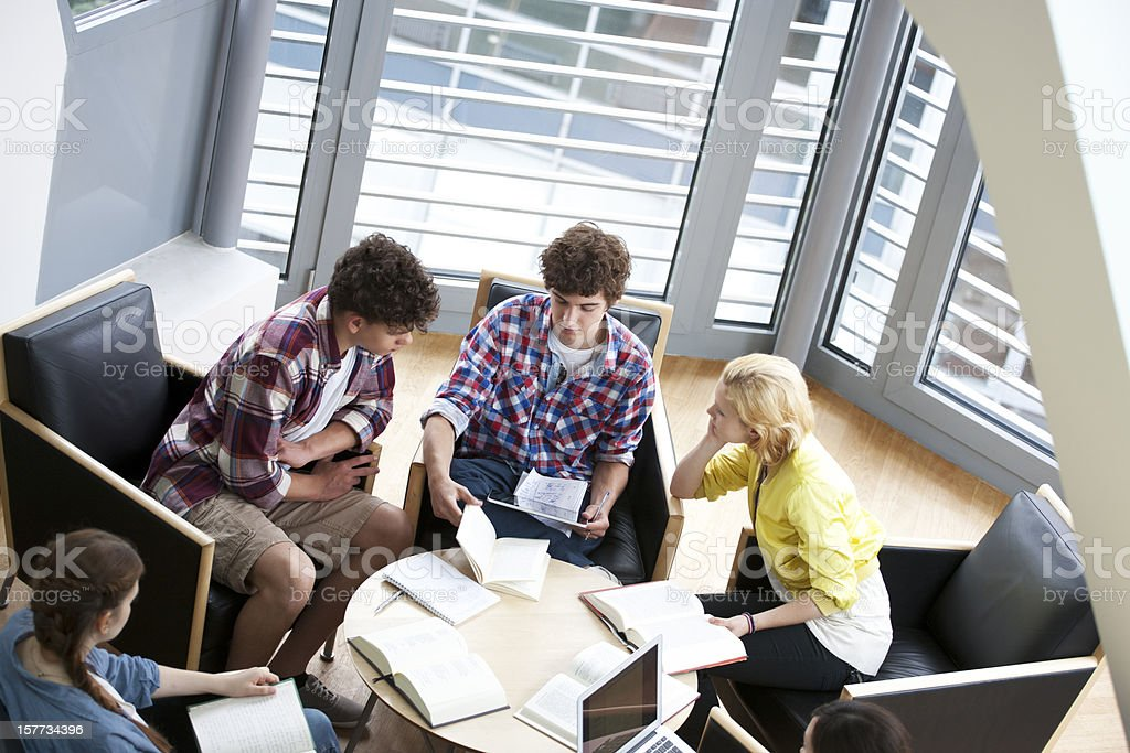 Young student study group royalty-free stock photo
