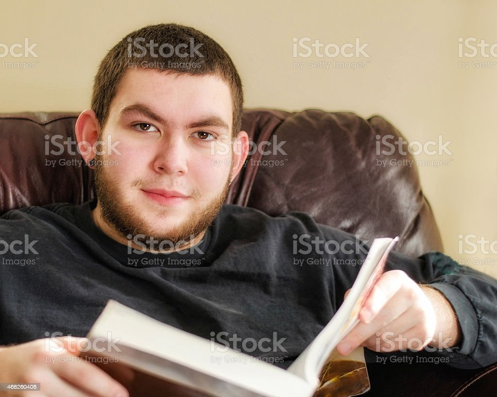 Young Student With a Book stock photo