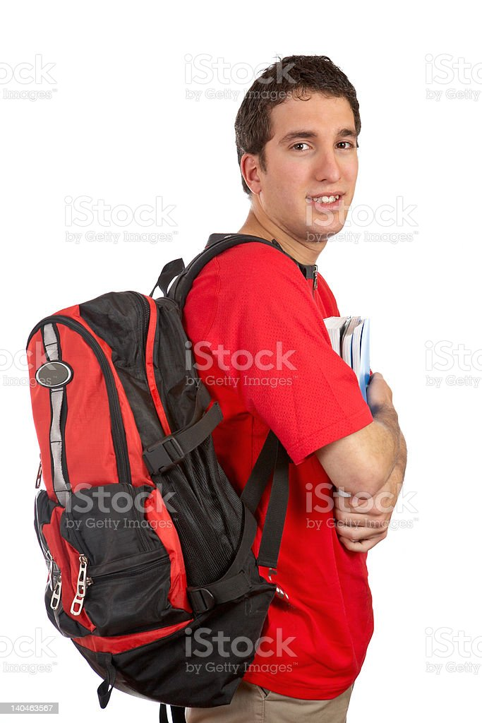 Young student with backpack royalty-free stock photo
